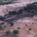 An image released by the government of Mali shows the scene of the crash, just over the border with Burkina Faso.
