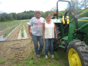 Dean and Allison Landale cultivate more than 100 varieties of vegetables on their farm in Deerfield, Mass. (Nancy Eve Cohen)