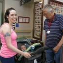 Veteran Alexandria Reid, with her baby, Wyatt, visit the VA in Leeds, Massachusetts.