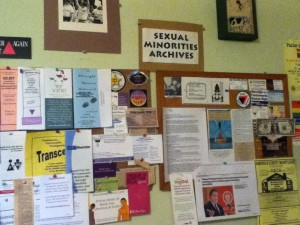 Display at the Sexual Minority Archives.