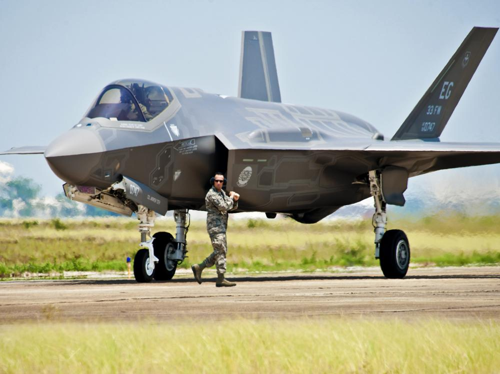 The U.S. Air Force F-35 Lightning II joint strike fighter