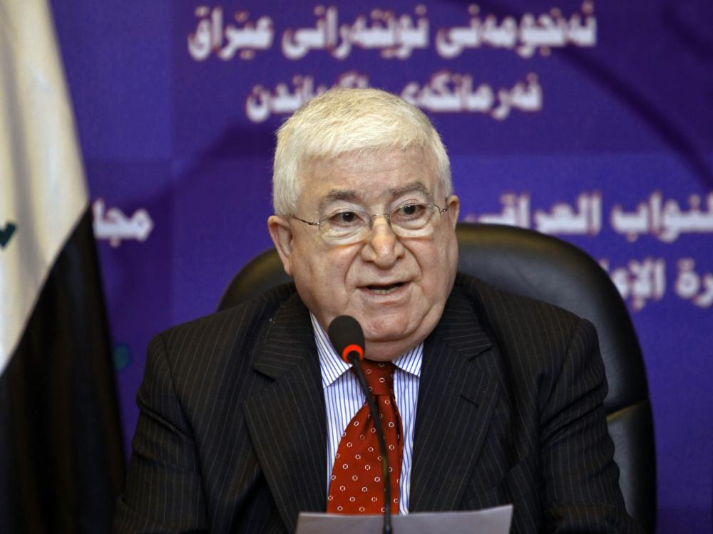 Fouad Massoum speaks to the press after an Iraqi Parliament session in Baghdad, Iraq, in 2010. Massoum, a Kurd, has been elected to the largely ceremonial post of president in Iraq.