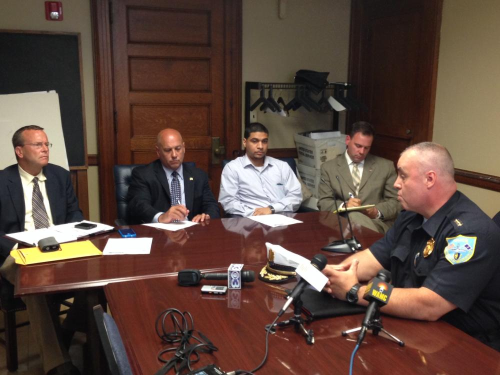 Springfield Police Commissioner John Barbieri meets with members of the City Council's Public Safety Committee on summertime policing strategies at City Hall July 15, 2014