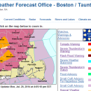 A screen shot from the National Weather Service website on Monday, July 28, 2014.