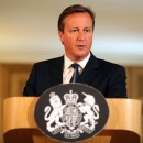 Britain's Prime Minister David Cameron speaks at a news conference in Downing Street,  London on Friday after the U.K. raised its terror alert level.
