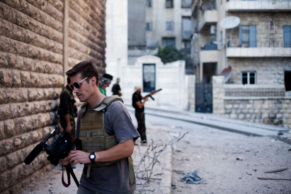 James Foley, in Syria in 2012.