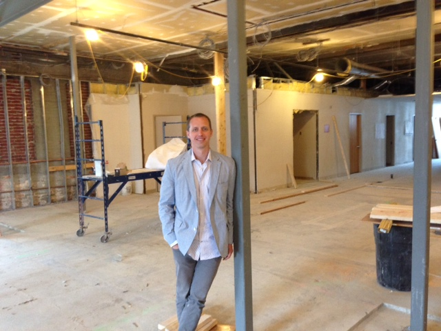Kevin Fisher, during an August 2014 tour of the Northampton, Mass., building where he planned to build a medical marijuana dispensary.