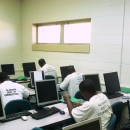 Inmates from several Alabama state prisons take a math class at J.F. Ingram State Technical College. The campus becomes a medium-security facility when the students arrive.