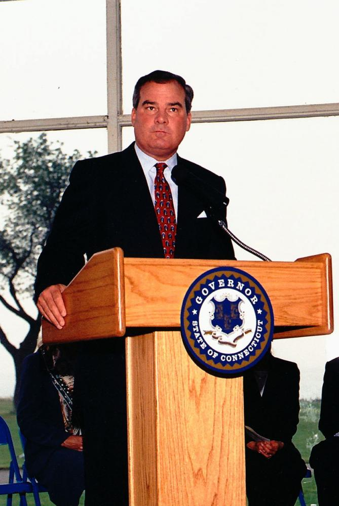 Former Connecticut Governor John G. Rowland.