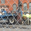 Workers hired by MGM Springfield test soil at a proposed casino parking lot.