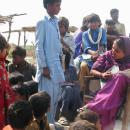 Aansoo Kohli is running a makeshift class in a cowshed for children who have no access to school.