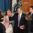 On Jan. 8, 2015, Charlie Baker takes the oath of office to become the 72nd governor of Massachusetts.