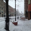 Downtown Springfield after the January 27th winter storm.