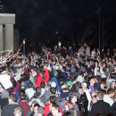 In February 2012, a large-scale disturbance broke out after the Patriots loss in the Super Bowl. UMass, state and Amherst police were on hand in riot gear, horses and K-9 units.