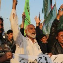 Pakistani protesters in Karachi condemn a bombing at a Shiite mosque in Shikarpur on Friday.
