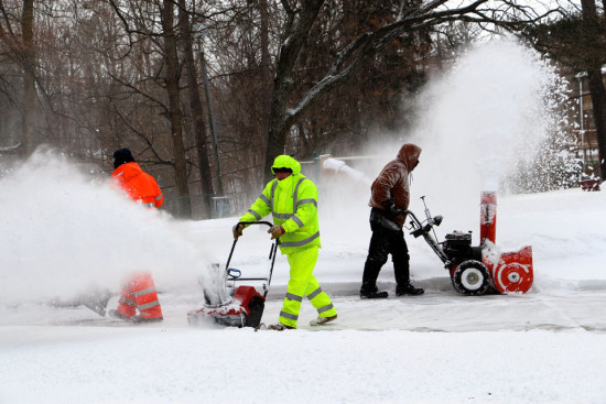 The clean-up continued Tuesday afternoon in Northampton, Mass., which received far less snow during Juno than had been forecast.