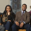 Howard University students (left to right) Kevin Peterman, Taylor Davis, Leighton Watson and Ariel Alfrod are the subjects of NPR's Project Howard. They'll be keeping audio diaries as they finish their final semester of college and look toward their futures.