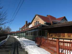 Northampton's Union Station which houses the Platform Bar and The Deck.