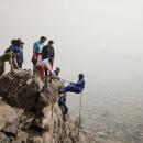 Eighteen-year-old Zahra Karimi Nooristani dangles precariously off a rock face high above Kabul.