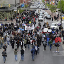 Earlier this week, protesters marched for Freddie Gray through downtown Baltimore. Gray died from spinal injuries about a week after he was arrested and transported in a police van. A larger protest is planned for Saturday afternoon.