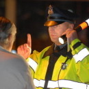 A Massachusetts state trooper conducting a field sobriety test.