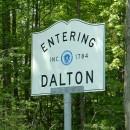 A road sign in Dalton, Mass.