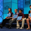 Some contestants at the 2011 Scripps National Spelling Bee.