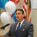 Springfield Mayor Domenic Sarno speaking at the launch of his re-election campaign at the Elks Lodge, May 18, 2015