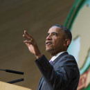 President Obama delivers a speech to the African Union in Addis Ababa, Ethiopia, on Tuesday.
