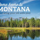 "Greg Gianforte is distributing a brochure urging workers to ""come home to Montana"" and telework from there."