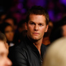 NFL quarterback Tom Brady attends the welterweight unification championship bout on May 2 at the MGM Grand Garden Arena in Las Vegas.