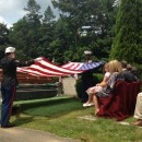 The burial of Marine Capt. RIchard W. Vincent, in Westfield, Mass., 72 years after his death.