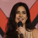 """Bollywood actress Katrina Kaif speaks during a media conference in Mumbai, India, in 2013. In her latest film, Kaif plays an aid worker for """"Medicine International"""" who helps an Indian soldier track assassinate a terrorist mastermind."""