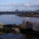 Concerns about pollution in the waters around Rio have prompted the world sailing federation to take action ahead of next year's Olympic Games. Here, garbage is seen Bica Beach, on the banks of the Guanabara Bay, with the Sugar Loaf mountain in background, earlier this year.