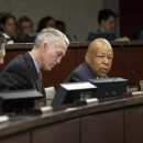 "Rep. Elijah Cummings (second from right), the ranking member of the House Select Committee on Benghazi, said it's ""certainly understandable"" that Bryan Pagliano would be advised not to appear before the committee."