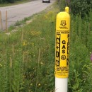 A gas pipeline marker near Nashua, NH.