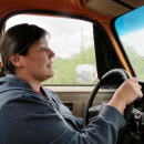 Valerie Davidson, Alaska's health and social services commissioner, drives her 1983 Chevy truck to pick up salmon for a dinner party for 50 people.