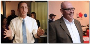 Holyoke Mayor Alex Morse (left) and his opponent in the 2015 municipal election, Fran O'Connell. (Republican file photos)