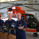 U.S. Coast Guard Captain Mark Fedor speaks to the media about the sinking of the container ship El Faro. The Coast Guard has concluded that the ship sank after encountering Hurricane Joaquin last Thursday.
